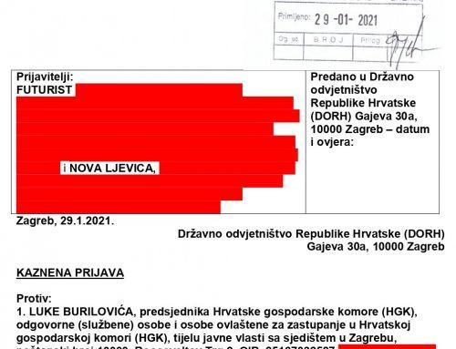 Nova ljevica kazneno prijavila predsjednika Hrvatske gospodarske komore (HGK) Luku Burilovića